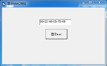 VB text显示Mac地址代码-小姚工作室